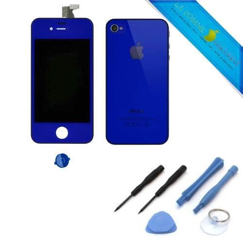 kit couleur complet iphone 4 bleu nuit achat vente kit. Black Bedroom Furniture Sets. Home Design Ideas