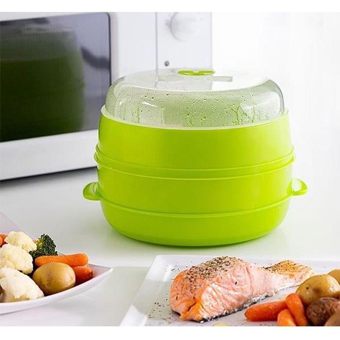 Micro-ondes parfait oeufs Braconnier BPA Free Cookware Double Coupe œuf cuiseur vapeur