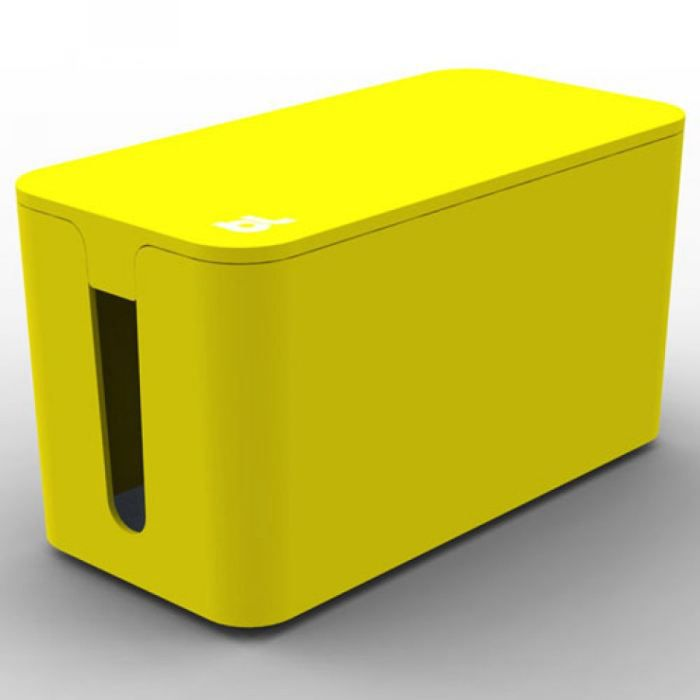 bluelounge cablebox mini jaune boite rangement ca achat. Black Bedroom Furniture Sets. Home Design Ideas