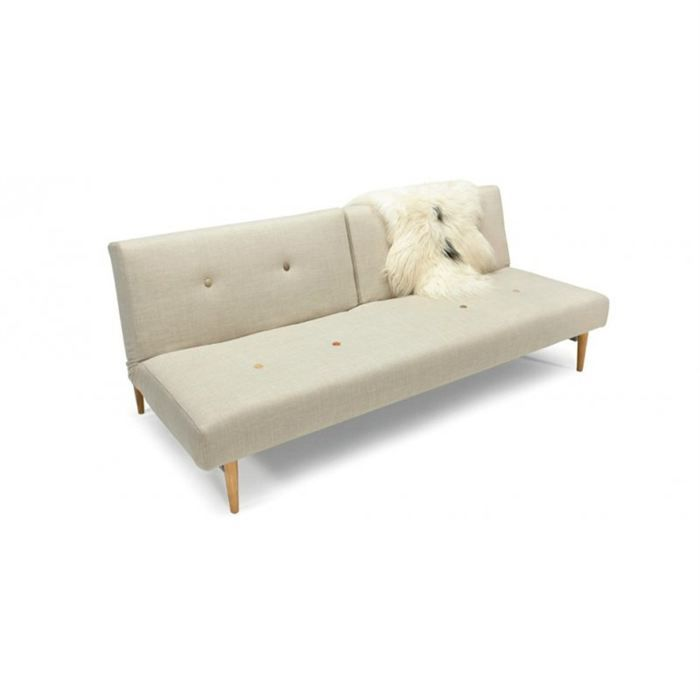 canap lit fiftynine blanc cass achat vente canap sofa divan cdiscount. Black Bedroom Furniture Sets. Home Design Ideas