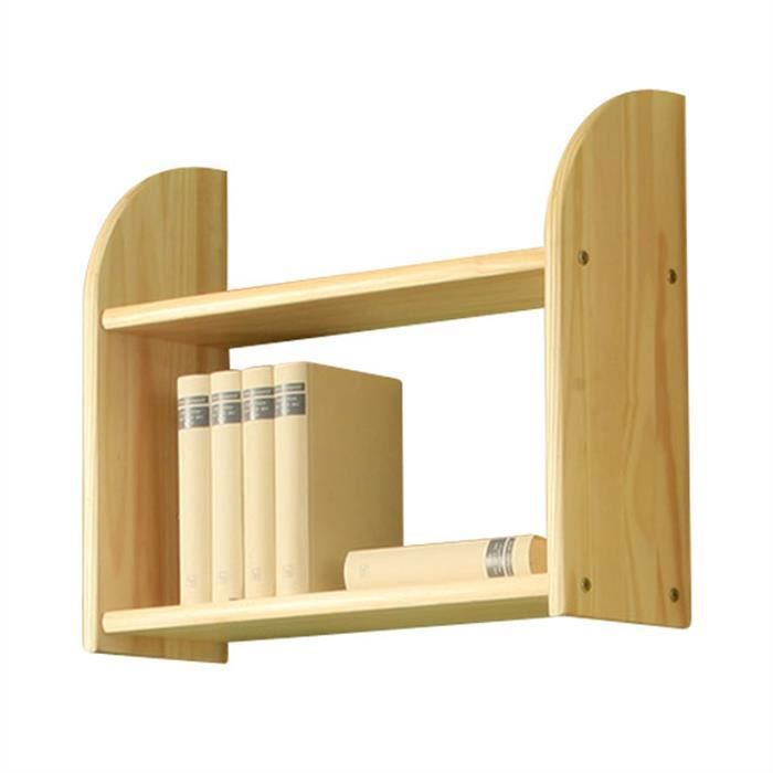 etagere murale 2 tablettes en pin vernis naturel achat. Black Bedroom Furniture Sets. Home Design Ideas