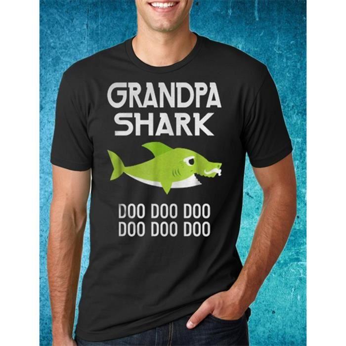 T-SHIRT Hommes Papy T Shirt-Papy Shark-père jour cadeau T