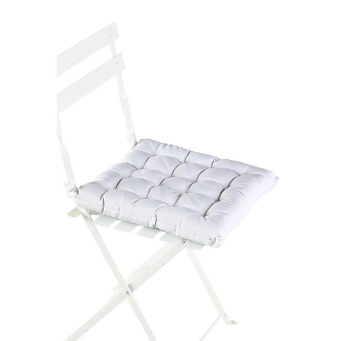 coussin de chaise blanc achat vente coussin de chaise cdiscount. Black Bedroom Furniture Sets. Home Design Ideas