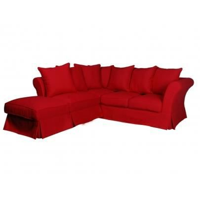 Canap d 39 angle modulable en tissu victoire iii achat vente canap sofa divan cdiscount for Canape angle modulable tissu