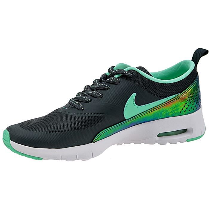 Nike Air Max Thea Print GS 820244-002 Enfant Baskets Noir