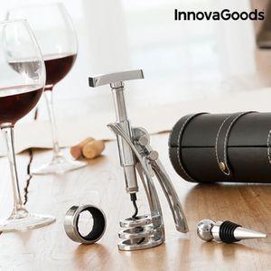 COFFRET CADEAU VIN Kit coffret cadeau accesoires vin 4en1 Tire boucho