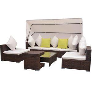 Ensemble table et chaise de jardin YaJiaSheng Mobilier de jardin 23 pcs avec auvent R