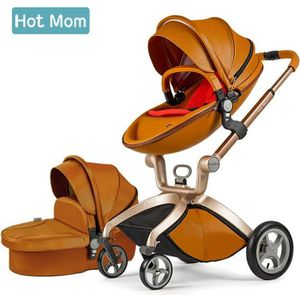 POUSSETTE  Hot Mom Poussette combinée Fashion ,Brun