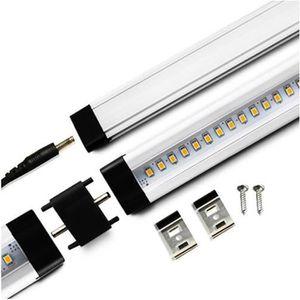 APPLIQUE  Réglette LED aluminium 0m50 69 LED SMD blanc chaud