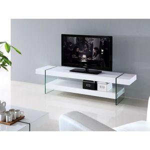 MEUBLE TV Meuble TV laqué blanc JADE