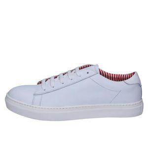 BASKET DI MELLA Chaussures Homme Baskets cuir Blanc AB932
