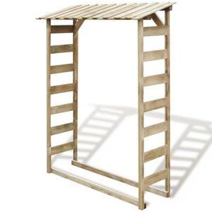 ABRI BÛCHES Abri de stockage du bois de chauffage 150x44x176 c