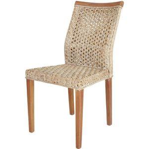 CHAISE Chaise en rotin tressé et acajou JUSTINE - Rotin D