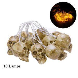 GUIRLANDE D'EXTÉRIEUR Guirlande lumineuse à pile à boule crâne 10 LED Ha