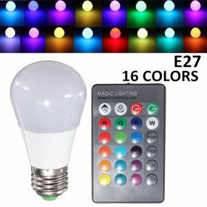 ampoule led ampoule led rgb remote lumiere color 3w e27 ac 85 - Lumire Colore