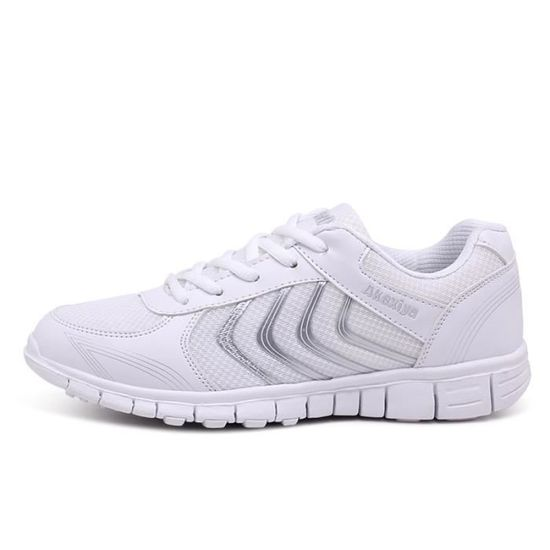 Baskets Homme Chaussure hiver Jogging Sport Ultra Léger Respirant Chaussures BBZH-XZ230Blanc44 Blanc Blanc - Achat / Vente basket