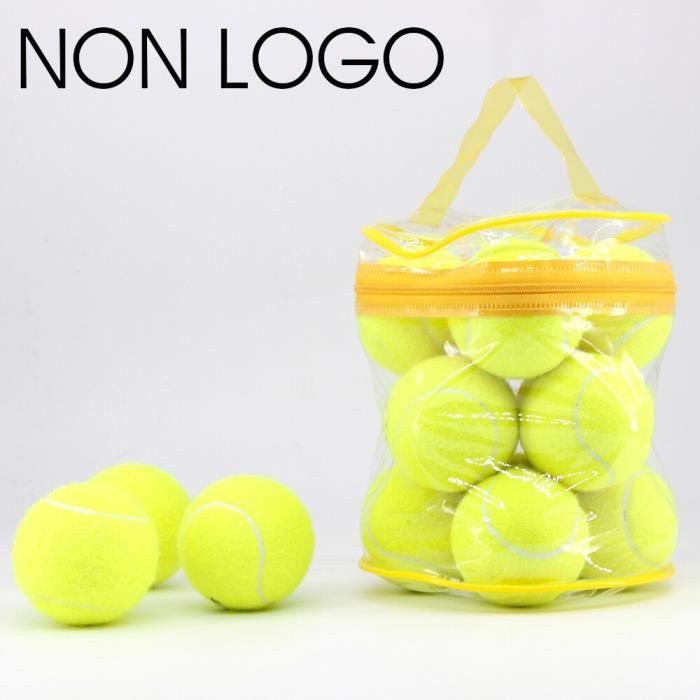 Balle de Tennis élastique de haute qualité, 12 pièces-lot, pour l'entraînement, le Sport, en laine, avec sac gratuit [1FEE9AE]