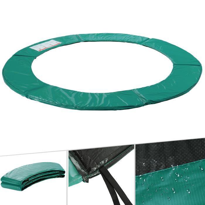 Arebos Coussin de protection des ressorts pour trampoline 366cm vert