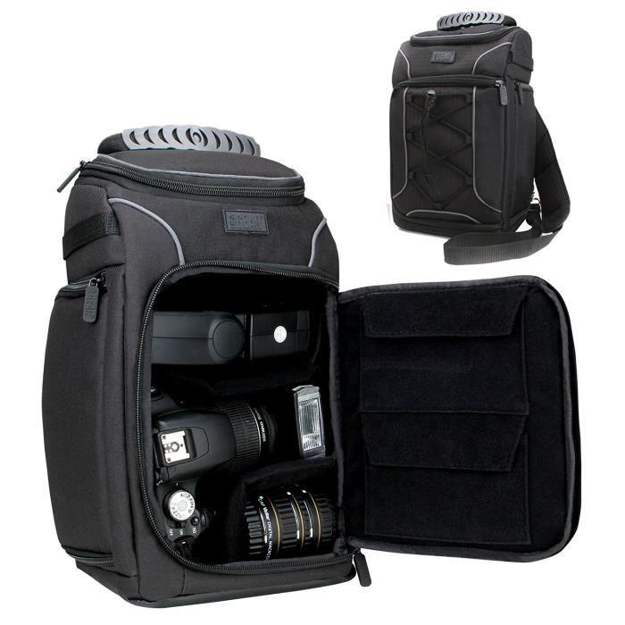 USA Gear S15 Sac à Dos Epaule Professionnel Appareil Photo Réflex, Couverture Waterproof Incluse , Rangement, Port Trépied