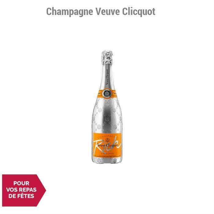 Champagne Rich Blanc - 75cl - Champagne Veuve Clicquot - Cépages Pinot Noir, Pinot Meunier, Chardonnay
