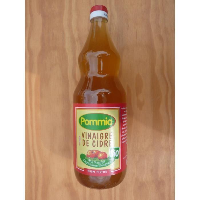 Vinaigre de cidre biologique non filtré POMMIA 1L