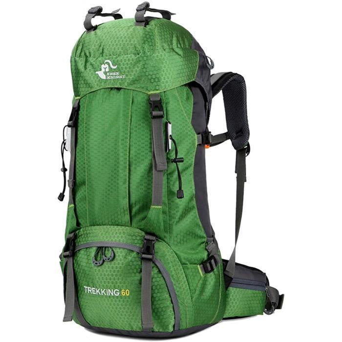 free knight Sac à dos étanche 60 l - Ultra léger - Pliable - Pour la pêche d'escalade - Pour le camping et l'extérieur - Avec [428]
