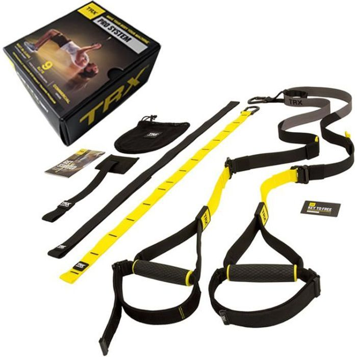 Kit De Suspension Training TRX Pro 7 - Noir-jaune - TU