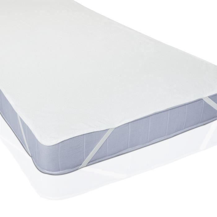 Protège-Matelas Plat à Elastiques Blanc 90 x 200 cm. Wir18