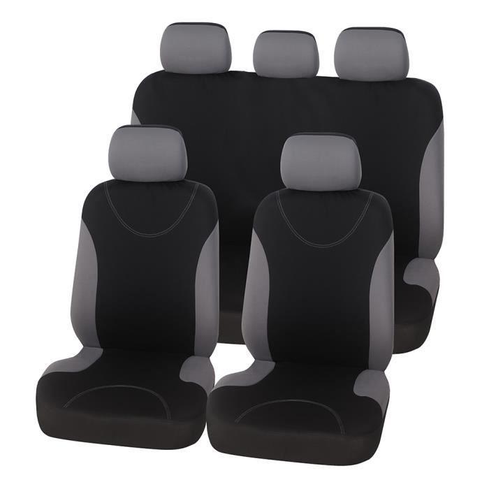 gray full set -Housses de siège de voiture en éponge grise, 9 pièces, 2MM, accessoires pour toyota yaris 2006, toyota rav4 xa30, toy