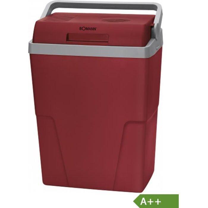 Bomann Glacière électrique rouge - gris 12V - 230V A ++
