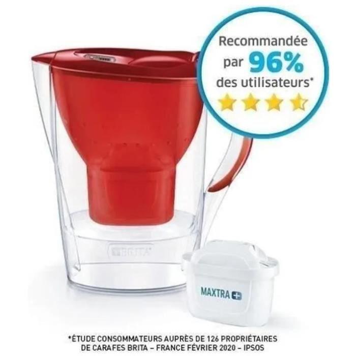 BRITA Carafe filtrante MARELLA Rouge + 1 Cartouche de rechange