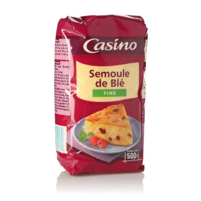 CASINO Semoule de blé fine - 500 g