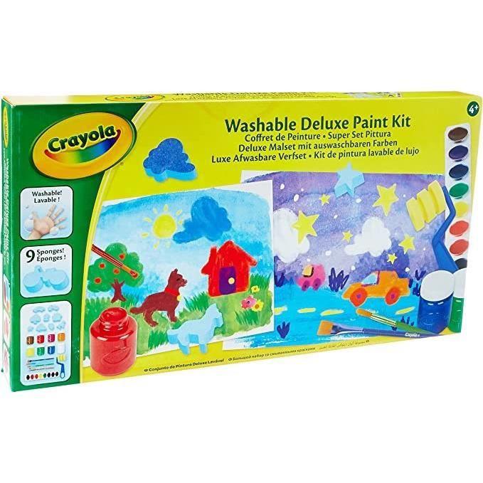 Crayola - Mon coffret de Peinture - Activités pour les enfants - Kit Crayola