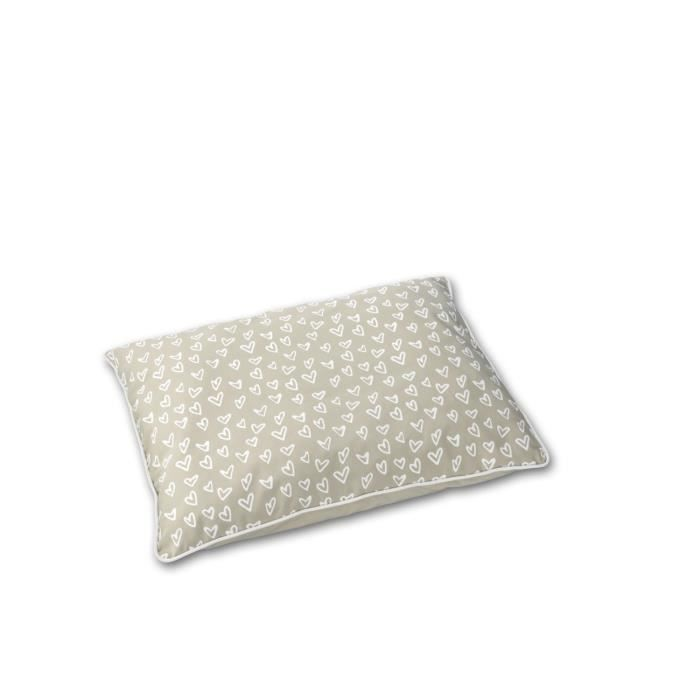 D&D Coussin Lovely Pet-Bed - 120 x 80 x 18cm - Beige / Blanc
