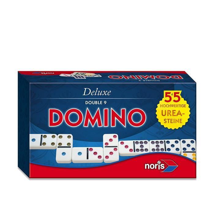 Deluxe - 606108003 - Jeu classique - Double 9 Domino: Jeux et Jouets