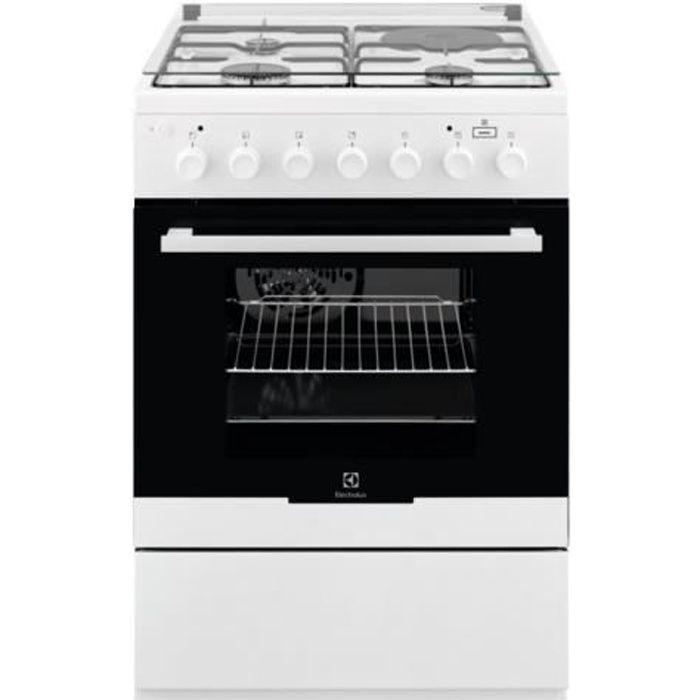 Electrolux EKM60900OW Cuisinière pose libre largeur : 60 cm profondeur : 60 cm hauteur : 88.9 cm avec système auto-nettoyant…