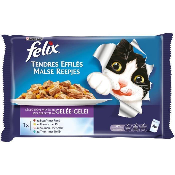 Pâtée pour chat viande poisson 4 x 100 g FELIX