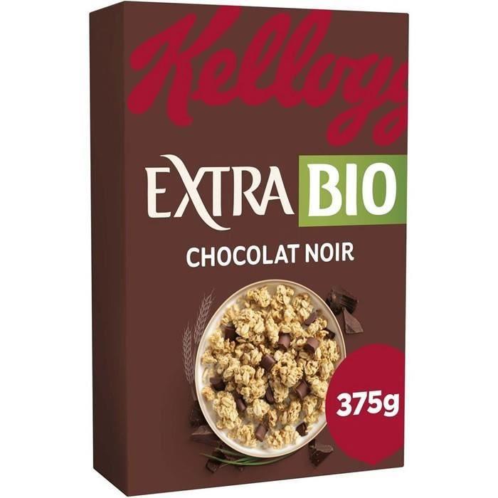 KELLOGG'S EXTRA BIO CEREALES CHOCOLAT NOIR 375 g