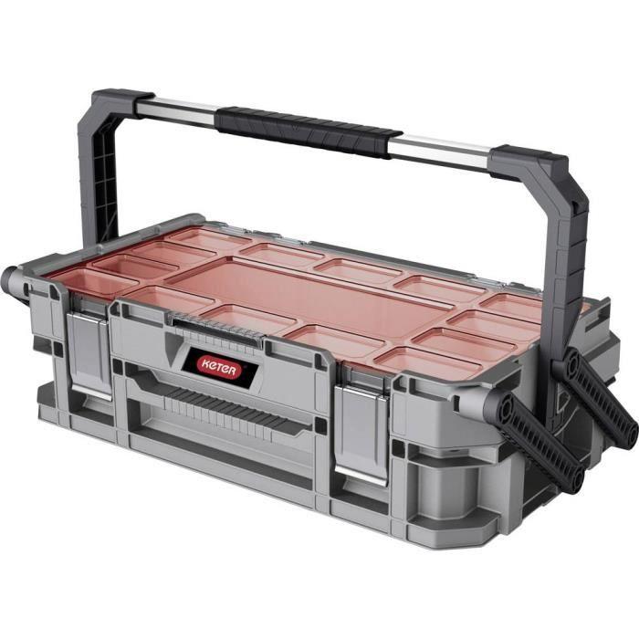BOITE DE RANGEMENT - BAC DE RANGEMENT OUTILS (VIDE) - Boîte de rangement KETER Connect 240569 (l x h x p) 560 x 160 x 320 mm 1 pc(s)