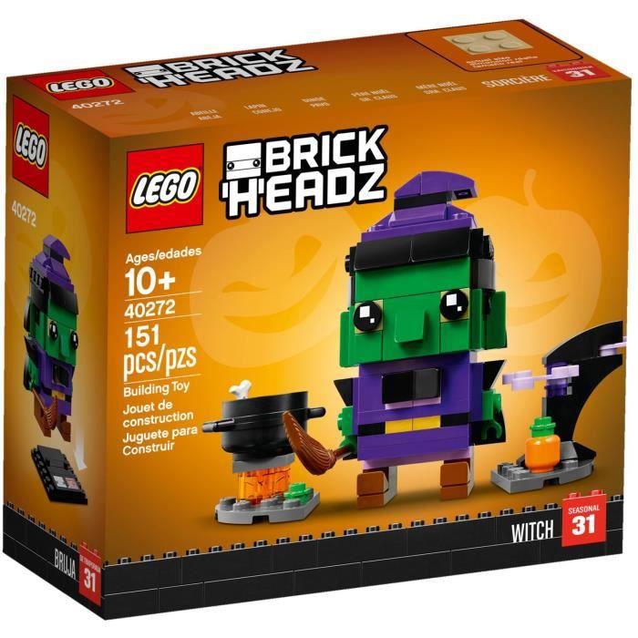 LEGO BRICKHEADZ 40272 La sorcière d'Halloween
