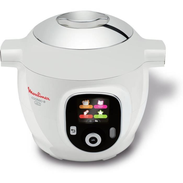 MOULINEX CE853100 Multicuiseur intelligent Cookeo avec prise usb et 150 recettes préprogrammées - Blanc