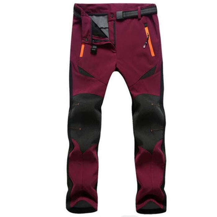Pantalons de Randonnée Femme de Marque Polaire Imperméable Respirant Pantalons Extensible Ski En Plein Air
