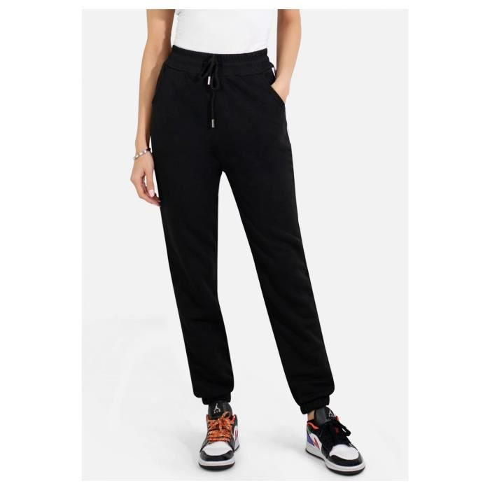 Pantalon jogging en molleton Training Femme Noir