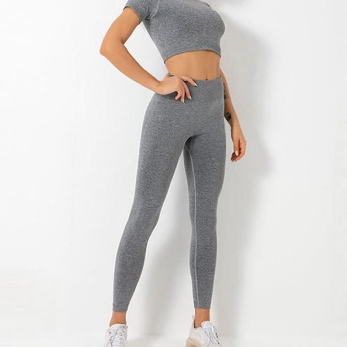 SURVETEMENT Femme - Pantalon de yoga anti-humidité Pantalon de fitness sport - Gris GT™