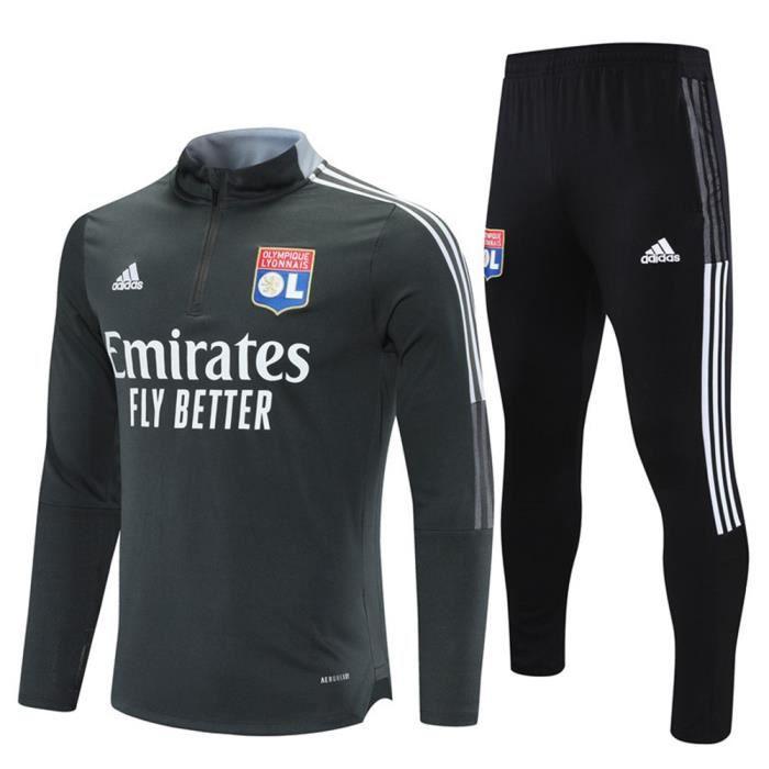 Lyon 2021 2022 Survêtements Foot Homme Enfants Maillot de Football - Noir