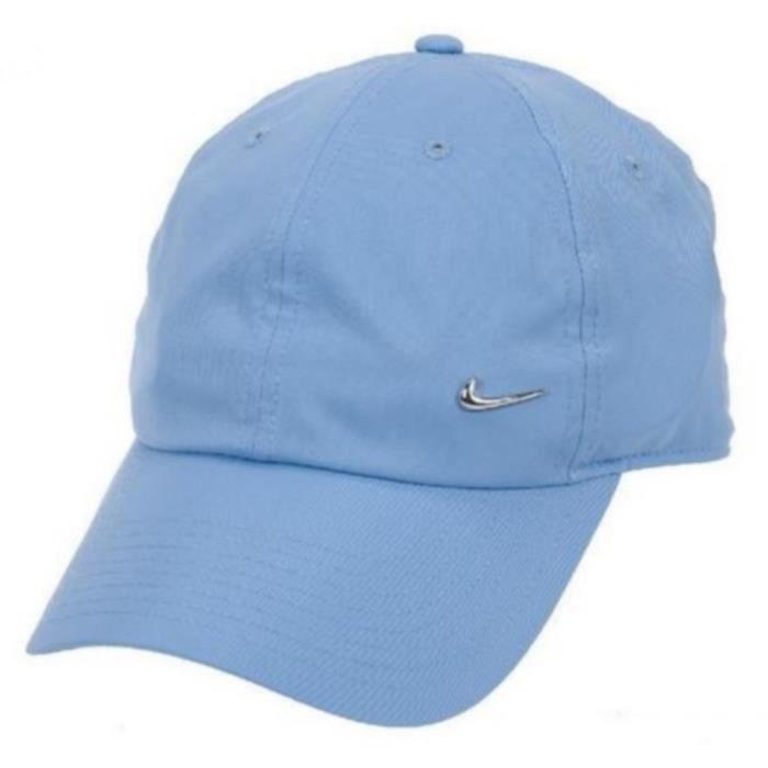 Casquette Bleue Homme Nike Logo en Métal