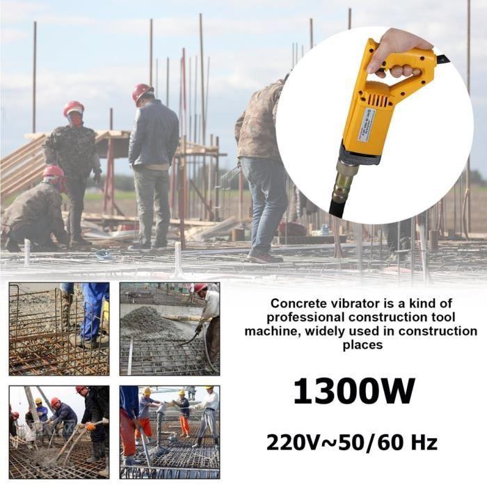 2m vibrateur de béton durable 1300w moteur dispositif vibrant portable machine vibrante 230v construction outils eu plug