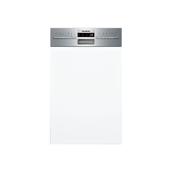 Siemens iQ300 speedMatic45 SR536S01ME Lave-vaisselle intégrable Niche largeur : 45 cm profondeur : 55 cm hauteur : 81.5 cm acier…
