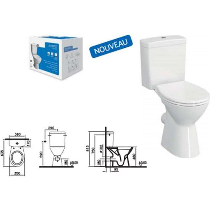 Normus Lift Pack WC à poser avec bride - Normus Lift Pack WC à poser PMR OB, 65 cm, avec bride - 9836B003-7204