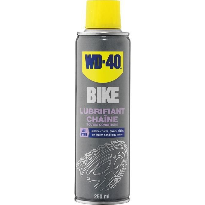 Wd40 bike lubrifiant chaines toutes conditions teflon 250ml